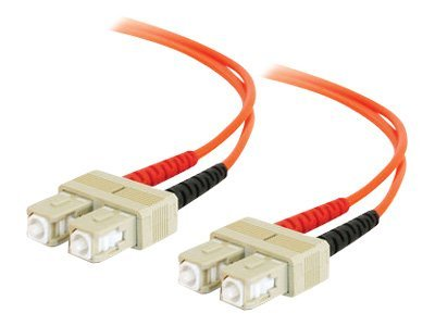 C2G Fiber Optic Cable SC-SC 62.5 125um Duplex Multimode, 2m, 09114, 166483, Cables