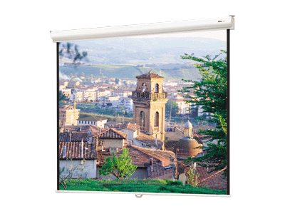 Da-Lite Designer Contour Manual with CSR Projection Screen, Video Spectra 1.5, 84 x 84, 91958