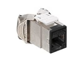 Leviton Atlas-X1 Cat6 Component-Rated Shielded QuickPort Connector, Black, 61SJK-RE6, 31603453, Cable Accessories