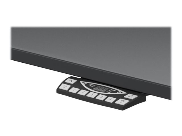 Humanscale 72w x 30d Electric Float Table with Sit Stand Desk Top, Black, E3072BLF