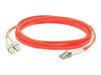 ACP-EP LC-SC 62.5 125 OM1 Multimode LSZH Duplex Fiber Cable, Orange, 25m