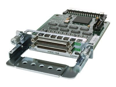 Cisco 1800 2800 3800 series 16-Port Asynchronous High-Speed WAN Interface Card, HWIC-16A=, 5798921, Network Device Modules & Accessories