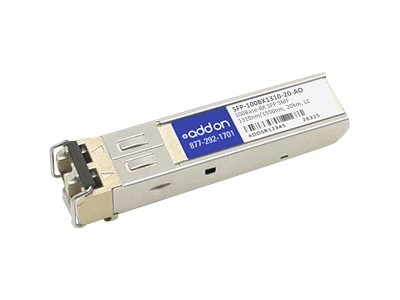 ACP-EP AddOn 100BASE-BX SFP 20KM For Zyxel, SFP-100BX1310-20-AO, 17004542, Network Transceivers
