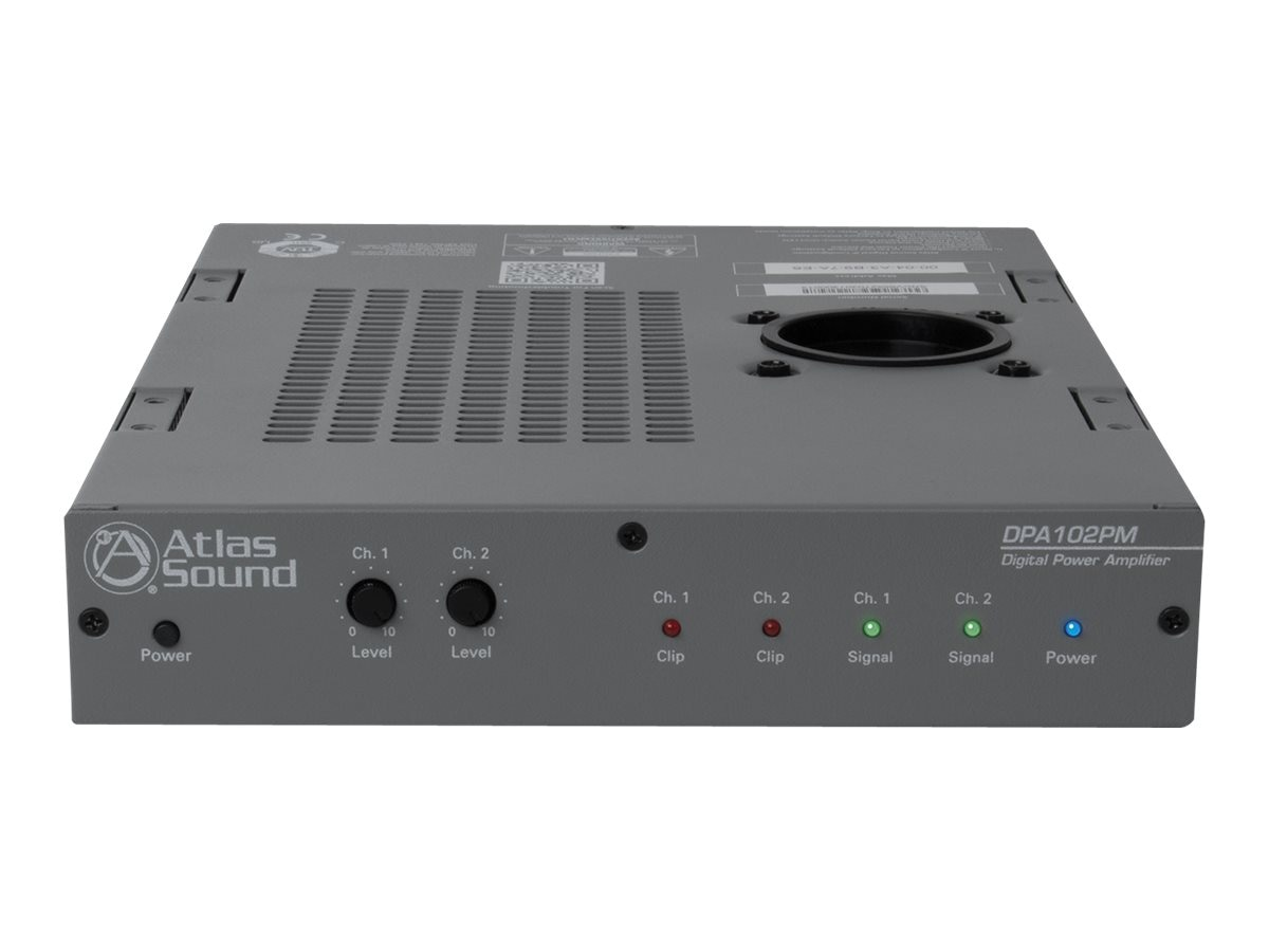 Atlas Sound Networkable 2-Channel Power Amplifier, DPA-102PM, 17757288, Music Hardware