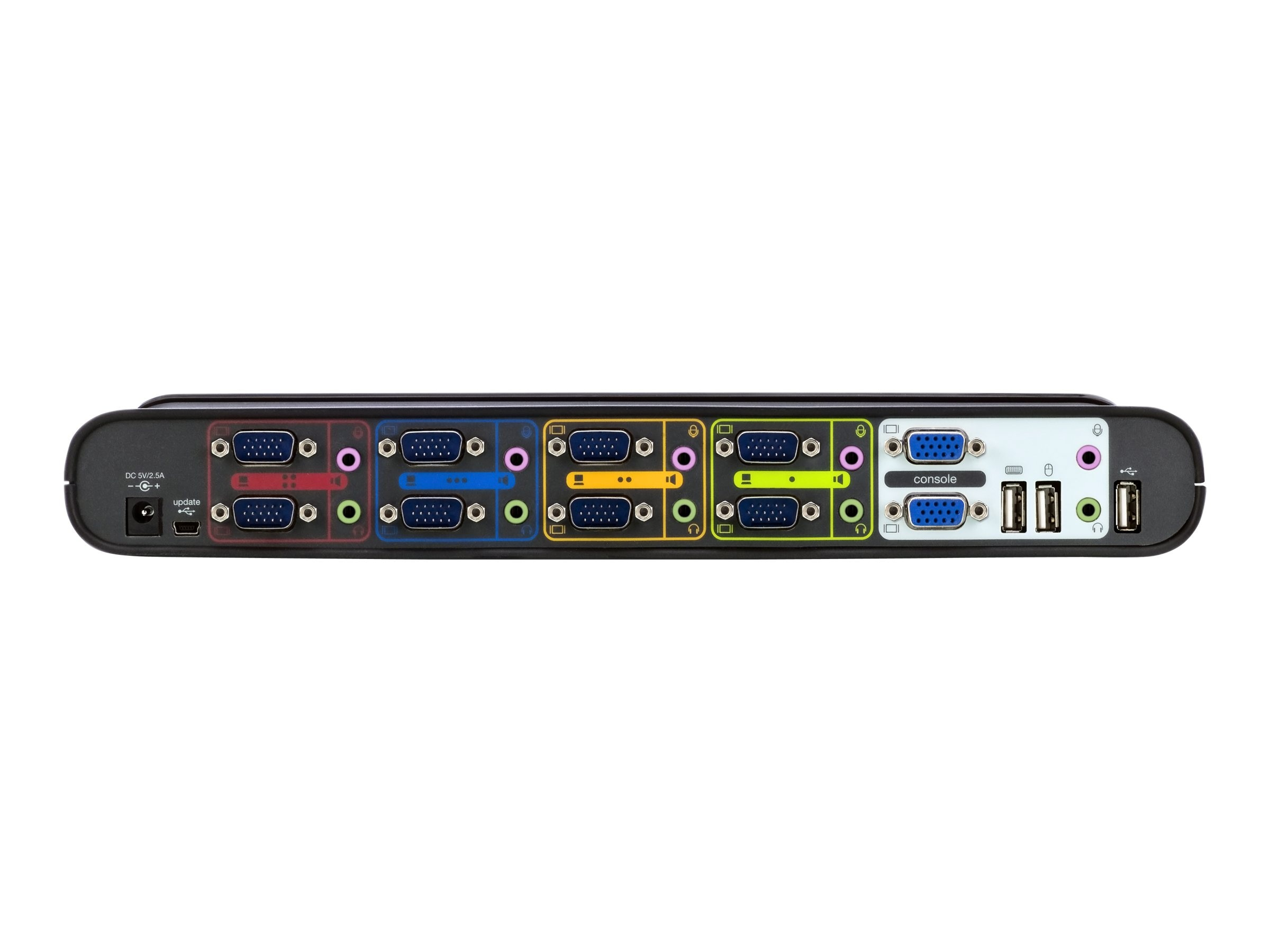 Belkin SOHO KVM Switch, Dual VGA and USB, 4-Port, F1DH104L, 10445628, KVM Switches