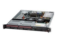 Supermicro 1U Short-Depth Chassis, Black