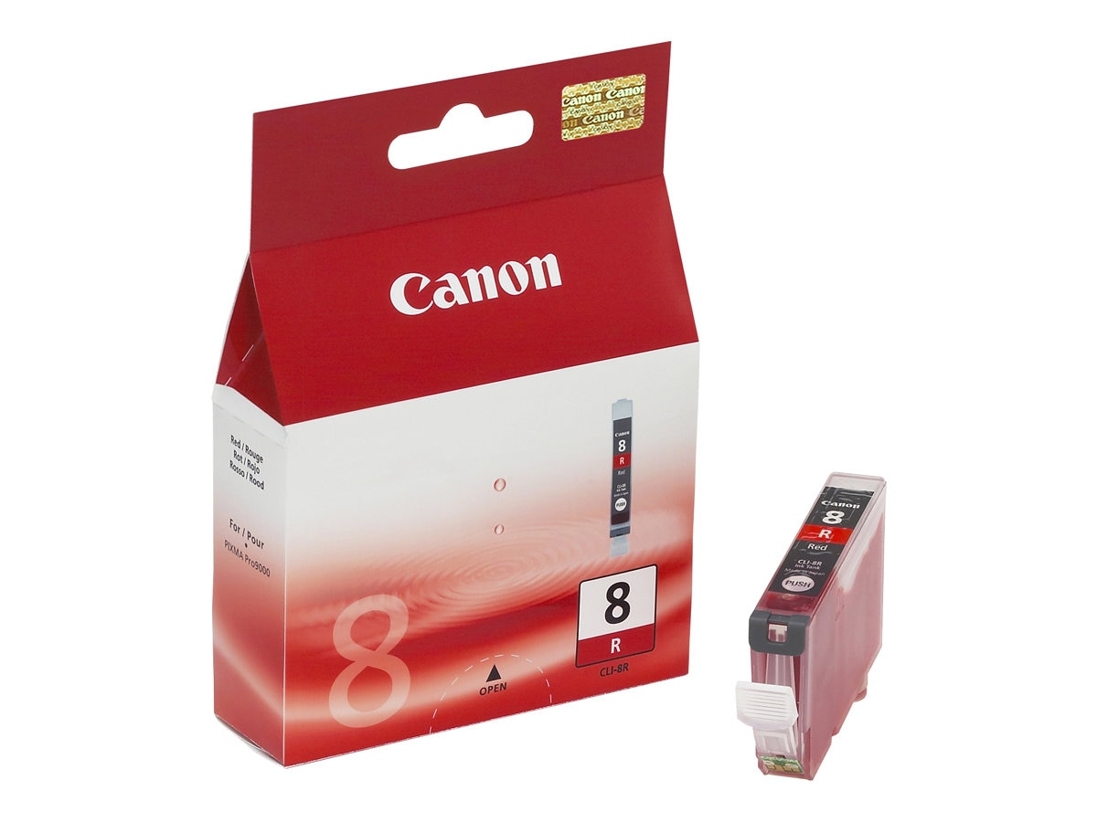 Canon Red CLI-8R Ink Tank for PIXMA iP4200 iP4300, 0626B002, 7339541, Ink Cartridges & Ink Refill Kits
