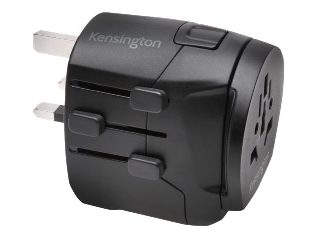 Kensington International Travel Adapter, 3-Prong w  Dual USB Ports