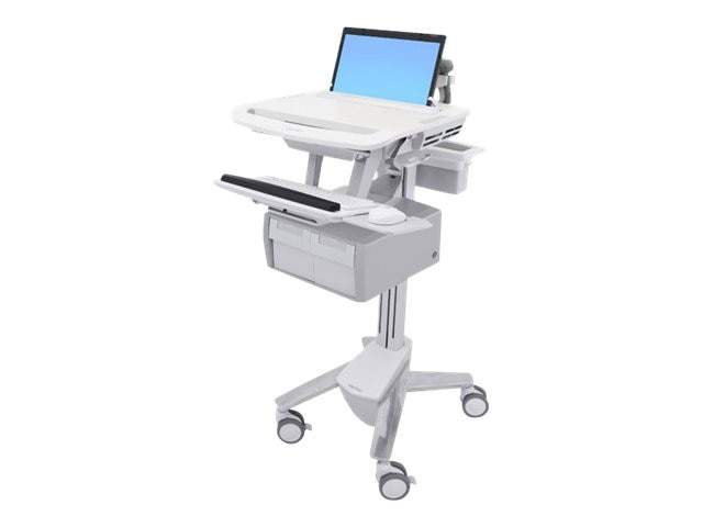 Ergotron StyleView Laptop Cart, 2 Tall Drawers, SV43-11C0-0