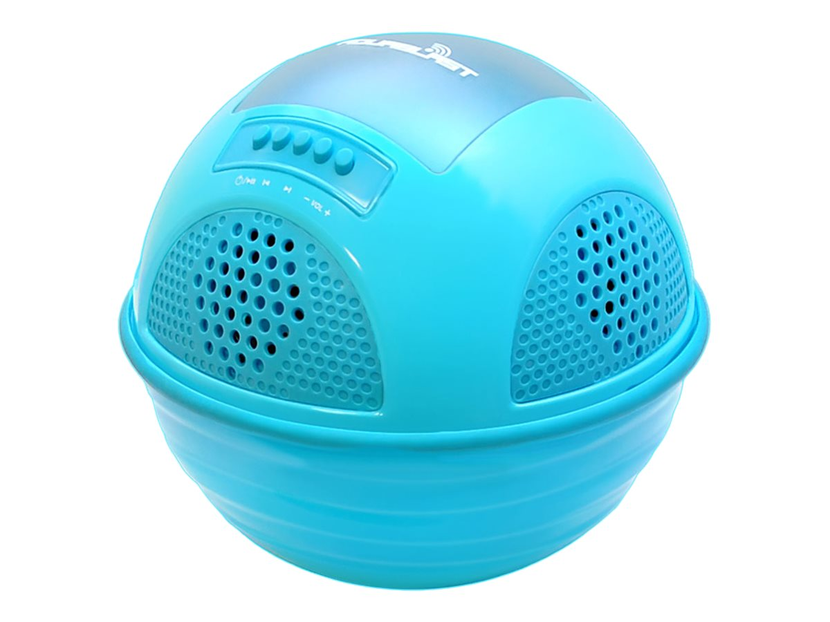 Pyle Aqua Blast BT Floating Pool Speaker System w  Rechargeable Battery - Blue