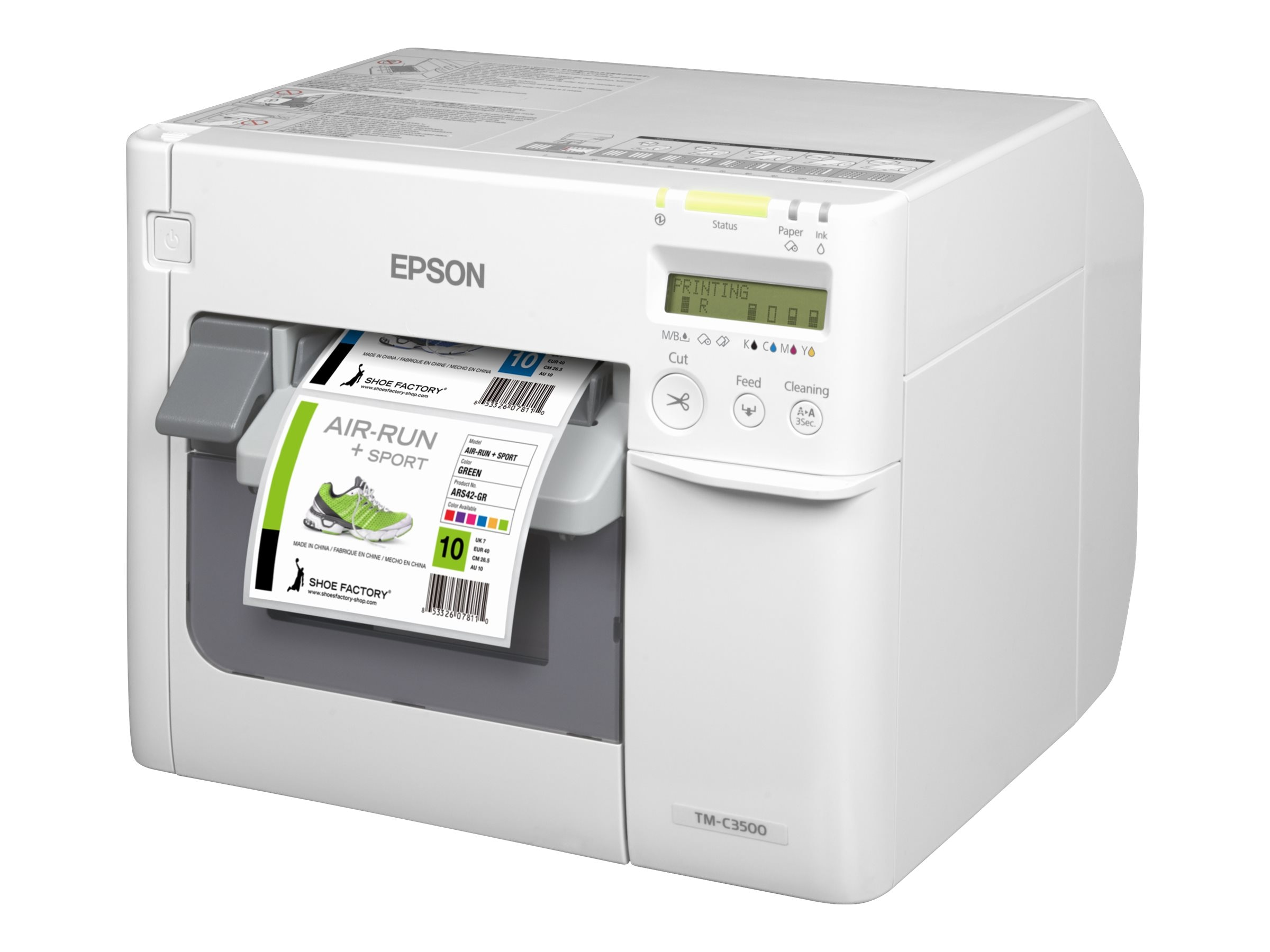 Epson ColorWorks TM-C3500 On-demand Color Inkjet Label Printer