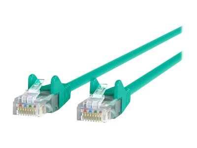 Belkin Cat6 UTP Patch Cable, Green, Snagless, 5ft