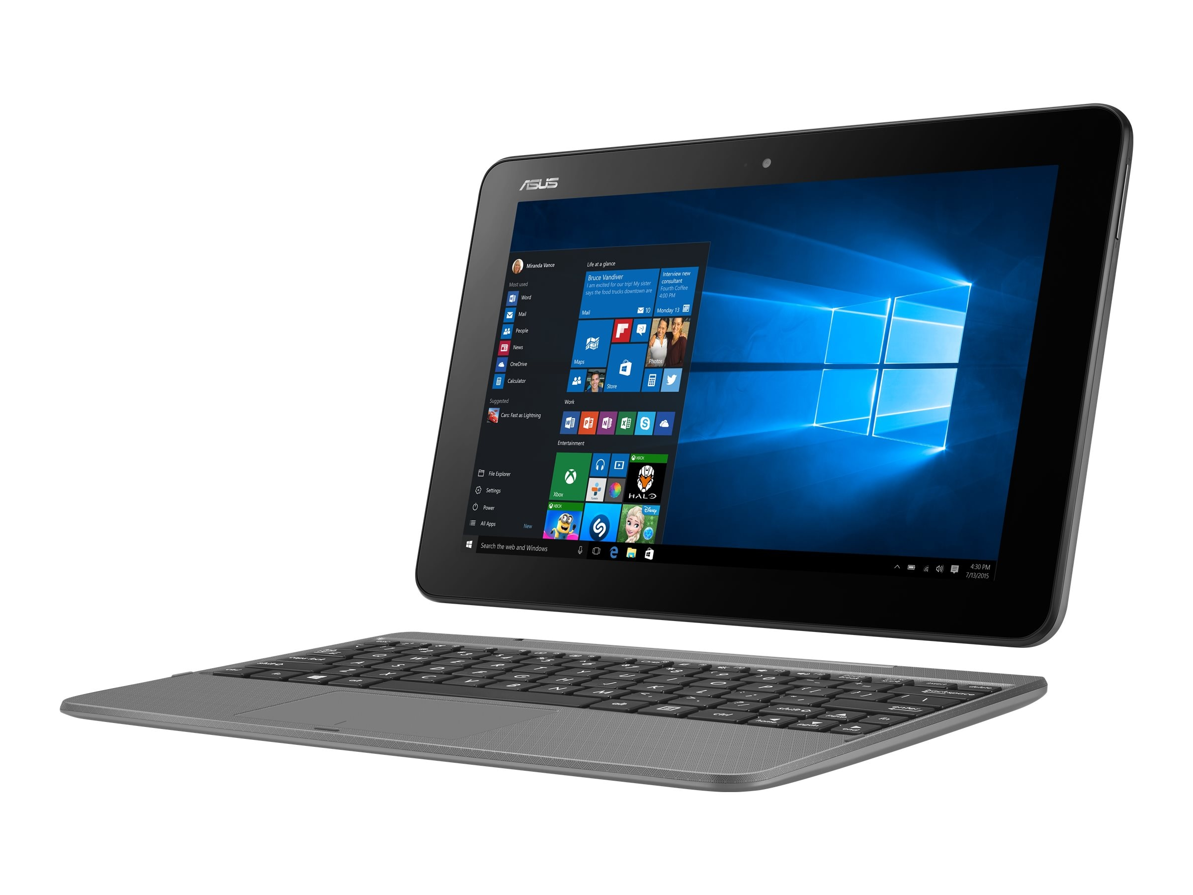 Asus Transformer book T101HA-C4 Atom x5-Z8500 1.44GHz 4GB 64GB abgn BT 2xWC 10.1 WXGA MT W10H64 Gray