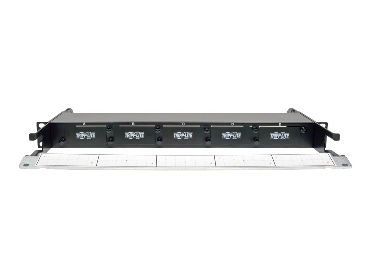 Tripp Lite High Density Rackmount Fiber Enclosure Panel 5 Cassette 1URM, N482-01U