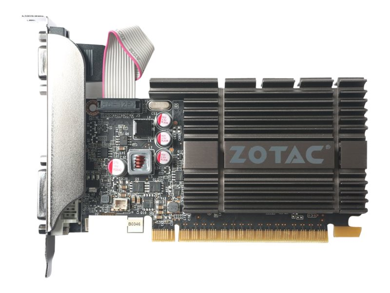 Zotac GeForce GT 710 PCIe 2.0 Zone Edition Graphics Card, 2GB DDR5, ZT-71307-20L