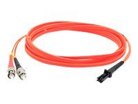 ACP-EP ST to MT-RJ 62.5 125 OM1 Multimode LSZH Duplex Fiber Patch Cable, Orange, 2m, ADD-ST-MTRJ-2M6MMF