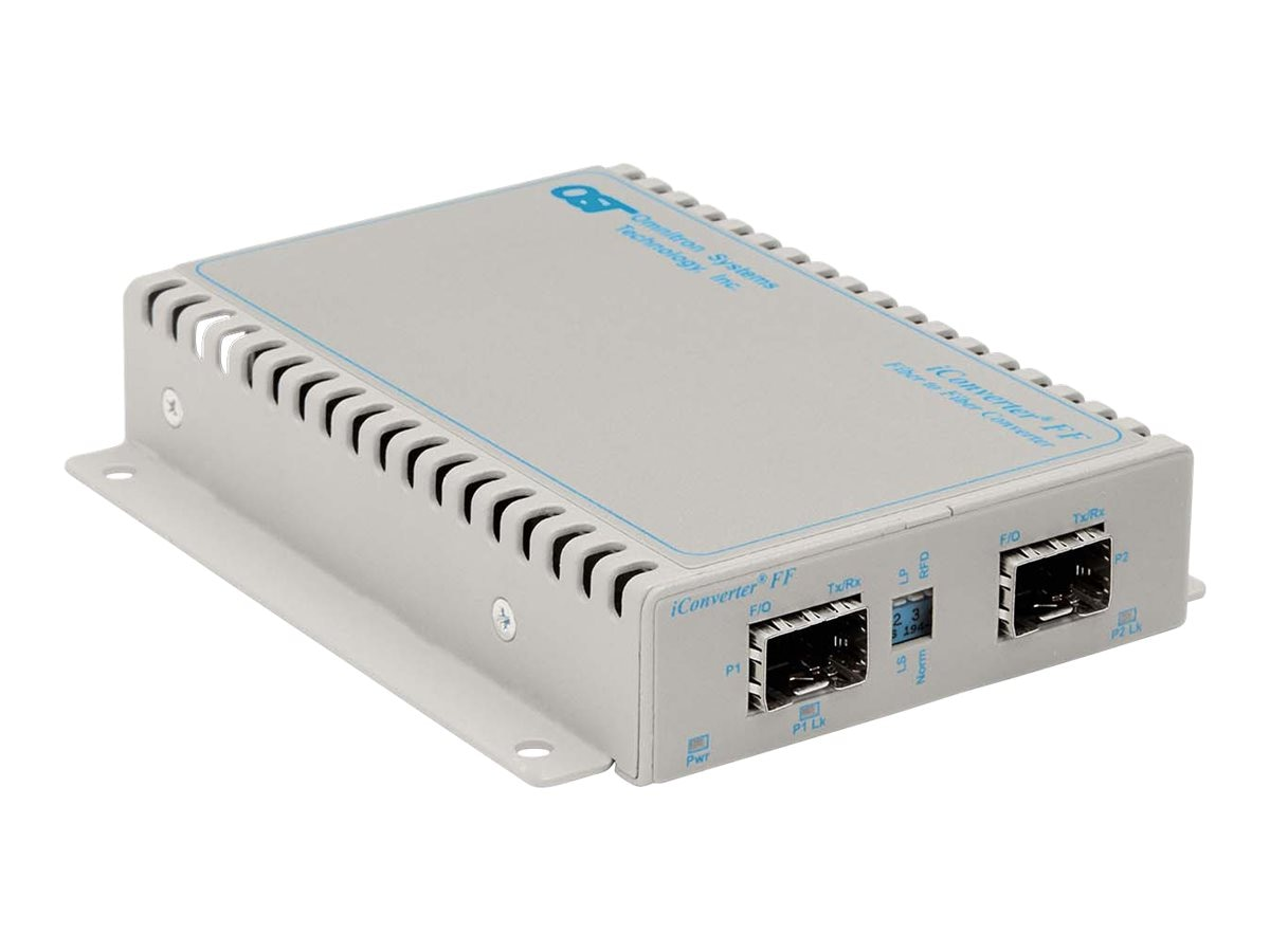 Omnitron iConverter XFF SFP to SFP Wall Mount with DC Terminal Connector
