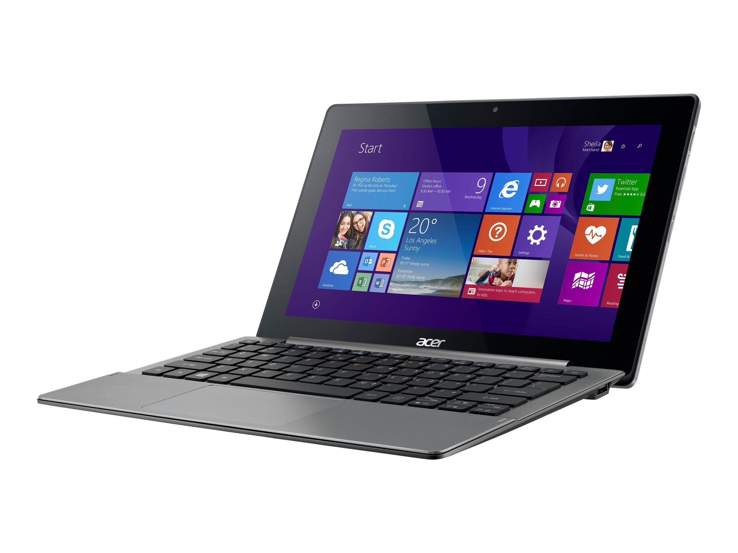 Acer Aspire SW5-173-63DW Core M-5Y10c 0.8GHz 4GB 128GB SSD ac BT 2xWC Kybd+Stylus 11.6 FHD MT W01H64, NT.G2TAA.004, 30870509, Tablets
