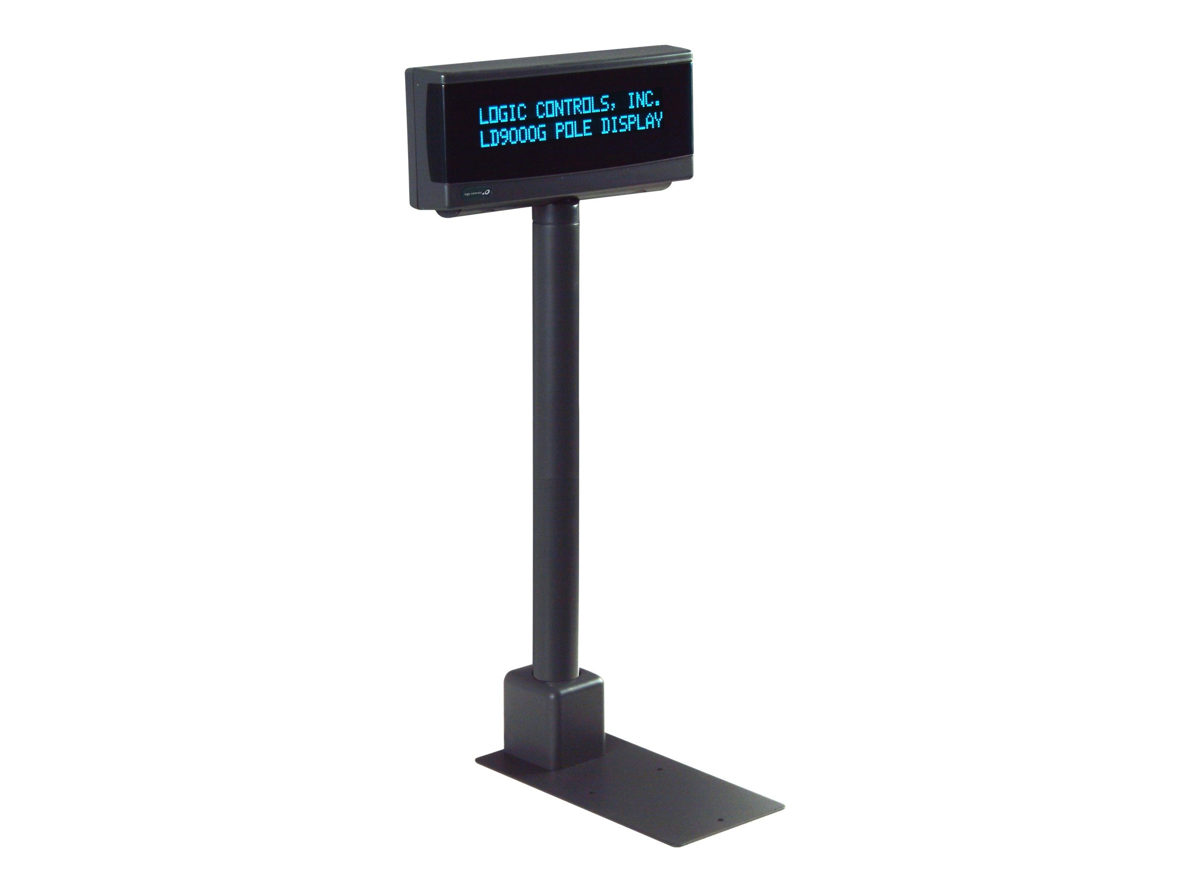 Logic Controls Pole Display, 9.5mm 2x20, USB, Port Powered, Dark Gray, LDX9000UP-GY, 18112297, POS Pole Displays
