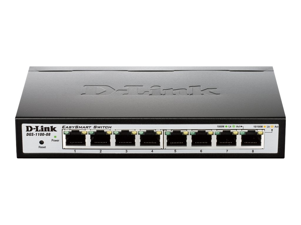 D-Link 8-port Gigiabit Easy Smart Switch, DGS-1100-08, 14292091, Network Switches