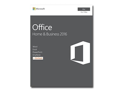 Microsoft Office Mac Home Business 1 Pack 2016 English P2 1 License NA Only Medialess