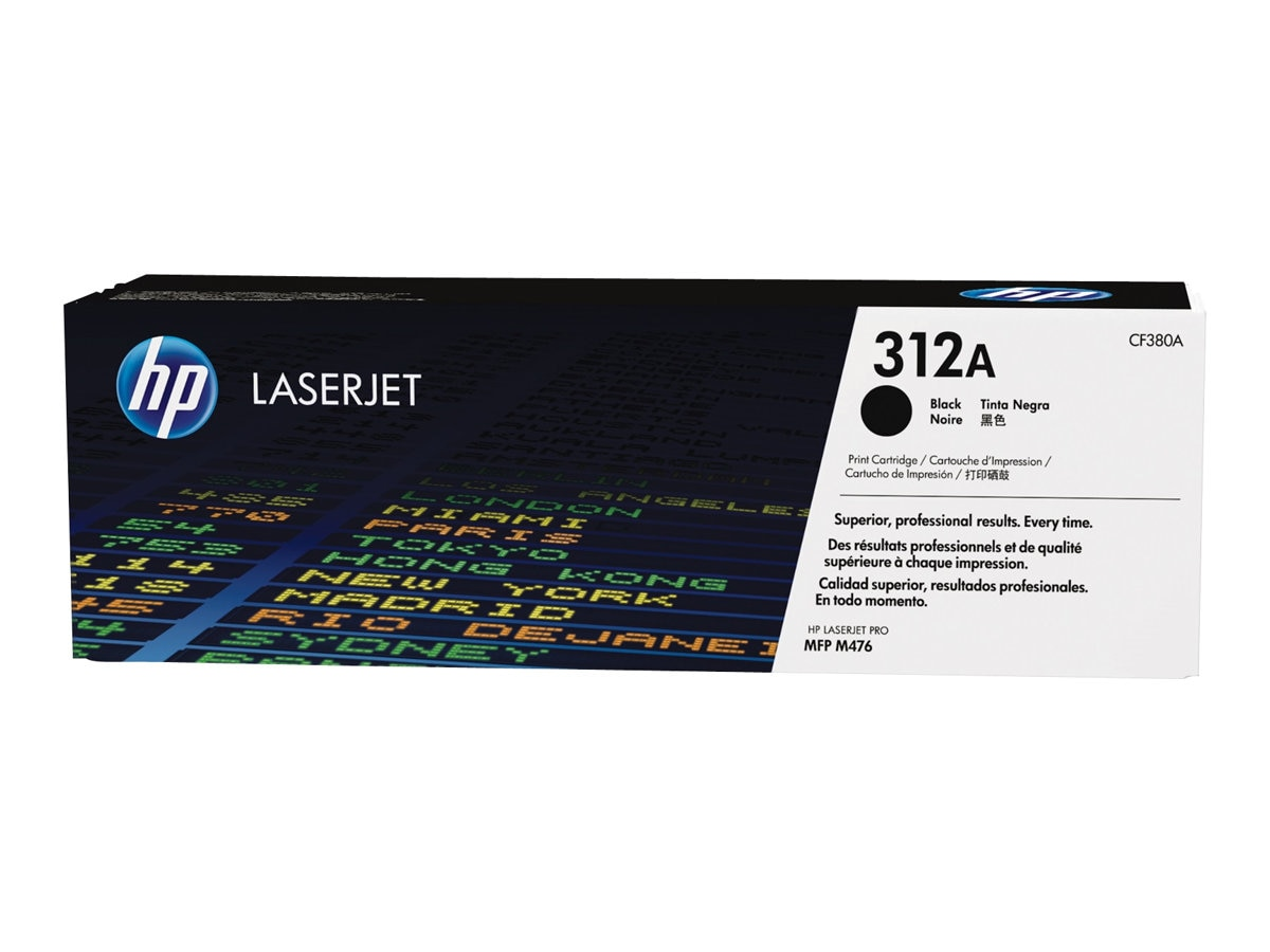 HP 312A (CF382A) Yellow Original LaserJet Toner Cartridge, CF382A, 16843635, Toner and Imaging Components