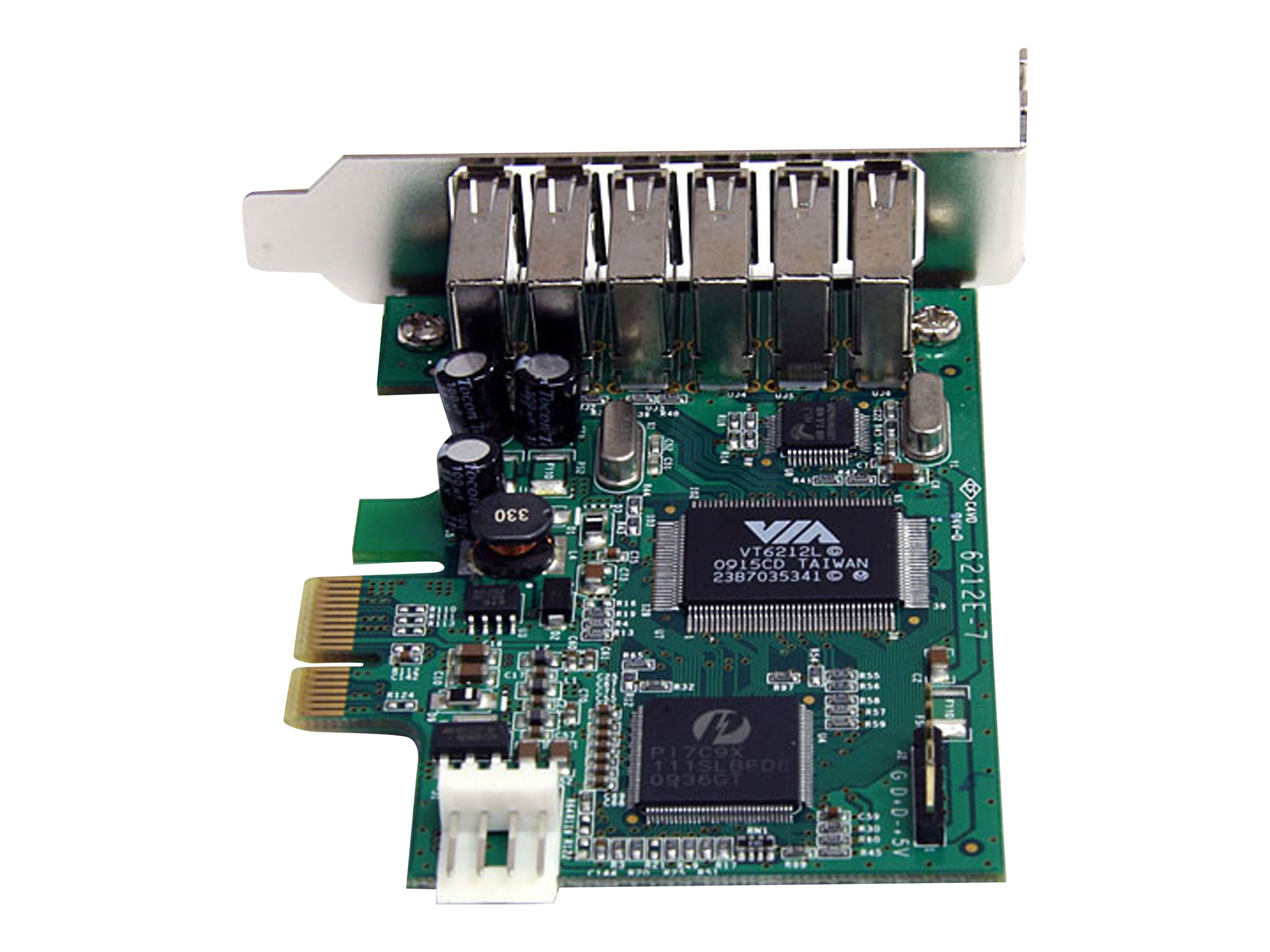 StarTech.com 7-port PCI Express Low Profile High Speed USB 2.0 Adapter Card, PEXUSB7LP