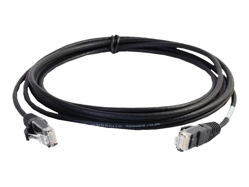 C2G Cat6 Snagless Unshielded (UTP) Slim Network Patch Cable - Black, 2ft