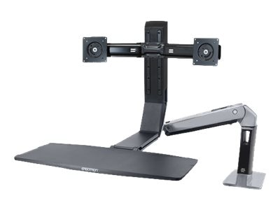 Ergotron WorkFit-A, Dual Mount, 24-312-026, 15559051, Stands & Mounts - AV