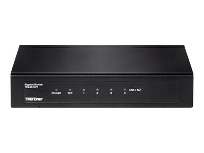 TRENDnet 4-Port Gigabit Switch w SFP Slot, TEG-S51SFP