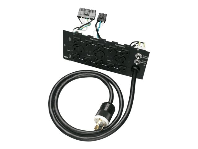 Tripp Lite Alt Back Panel Converts Hardwire to L6-30P for SU6000 UPS (13) Outlet 240V, SUPDM13