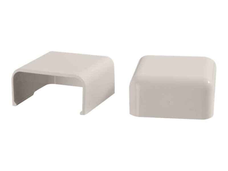 C2G Wiremold Uniduct 2900 Blank End Fitting, Fog White, 2-Pack