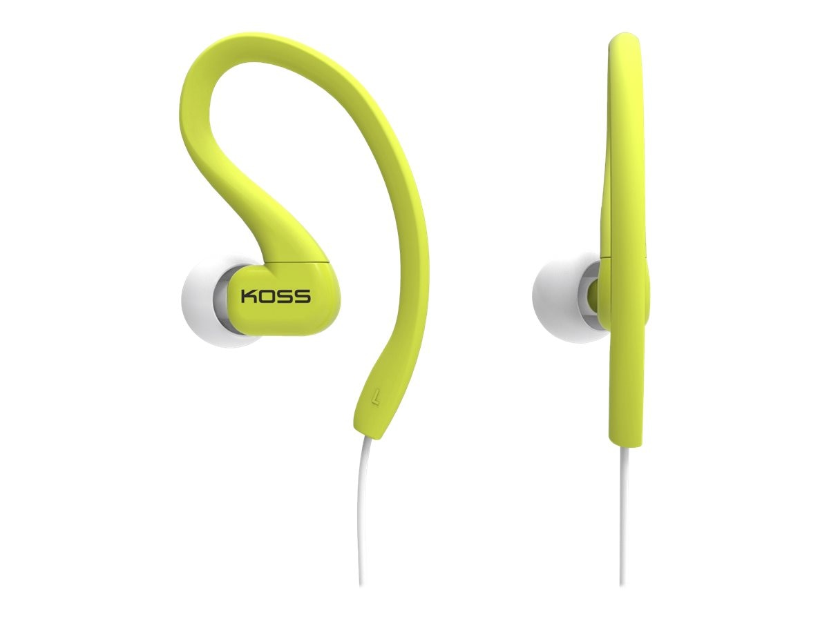 Koss Fit Clips - Lime, 185068, 16668099, Headphones