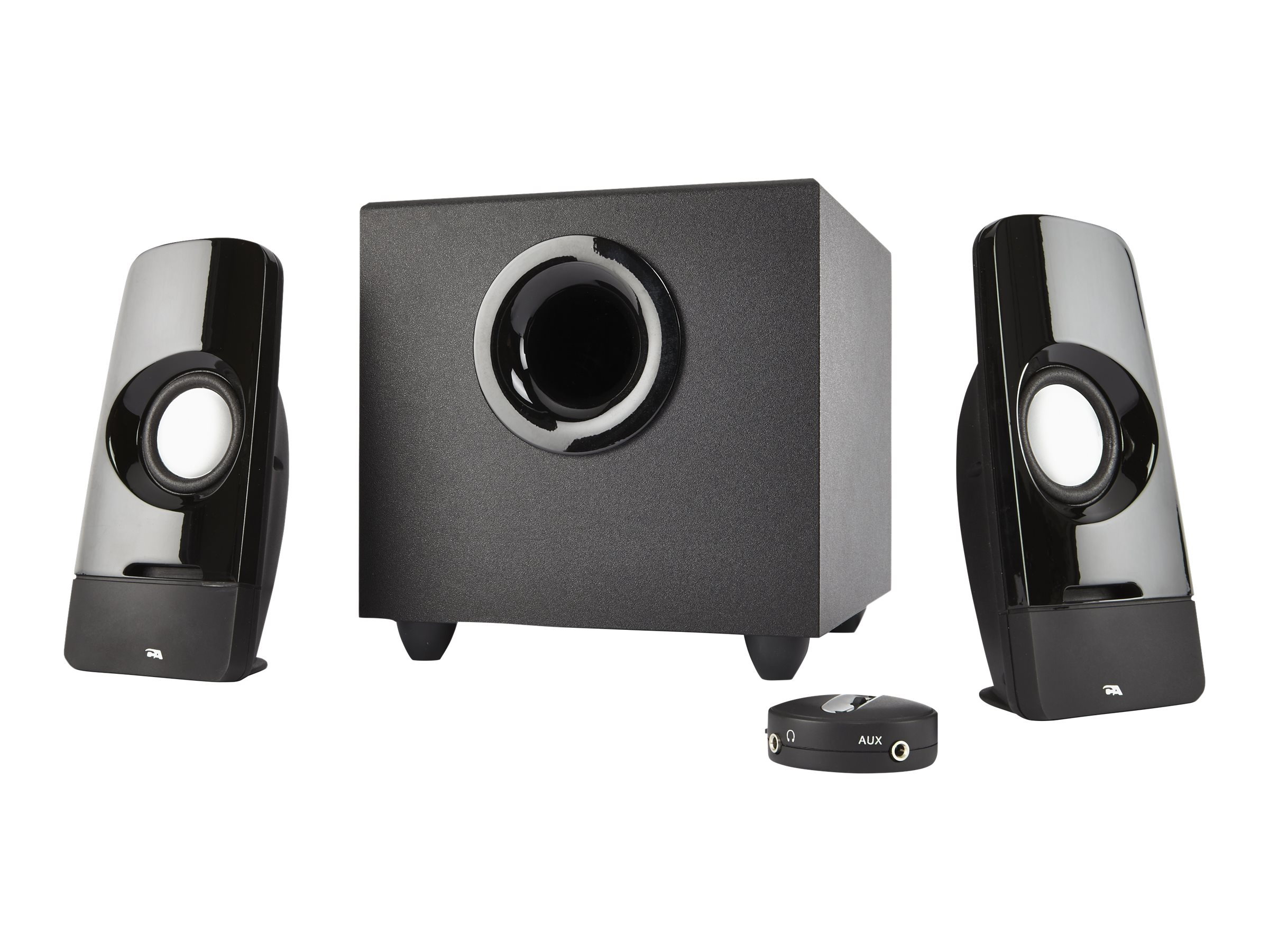 Cyber Acoustics Curve Series Control Pod Subwoofer 2.1 Powered Speaker System, CA-3050