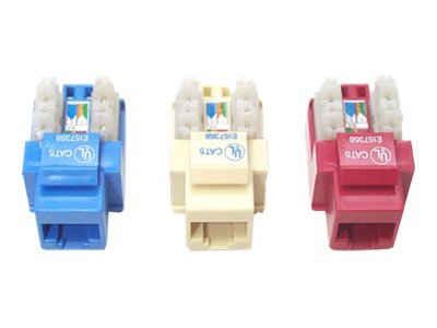 StarTech.com 110 Punch Type Cat6 Keystone Jack Blue, C6KEY110BL, 5942611, Premise Wiring Equipment