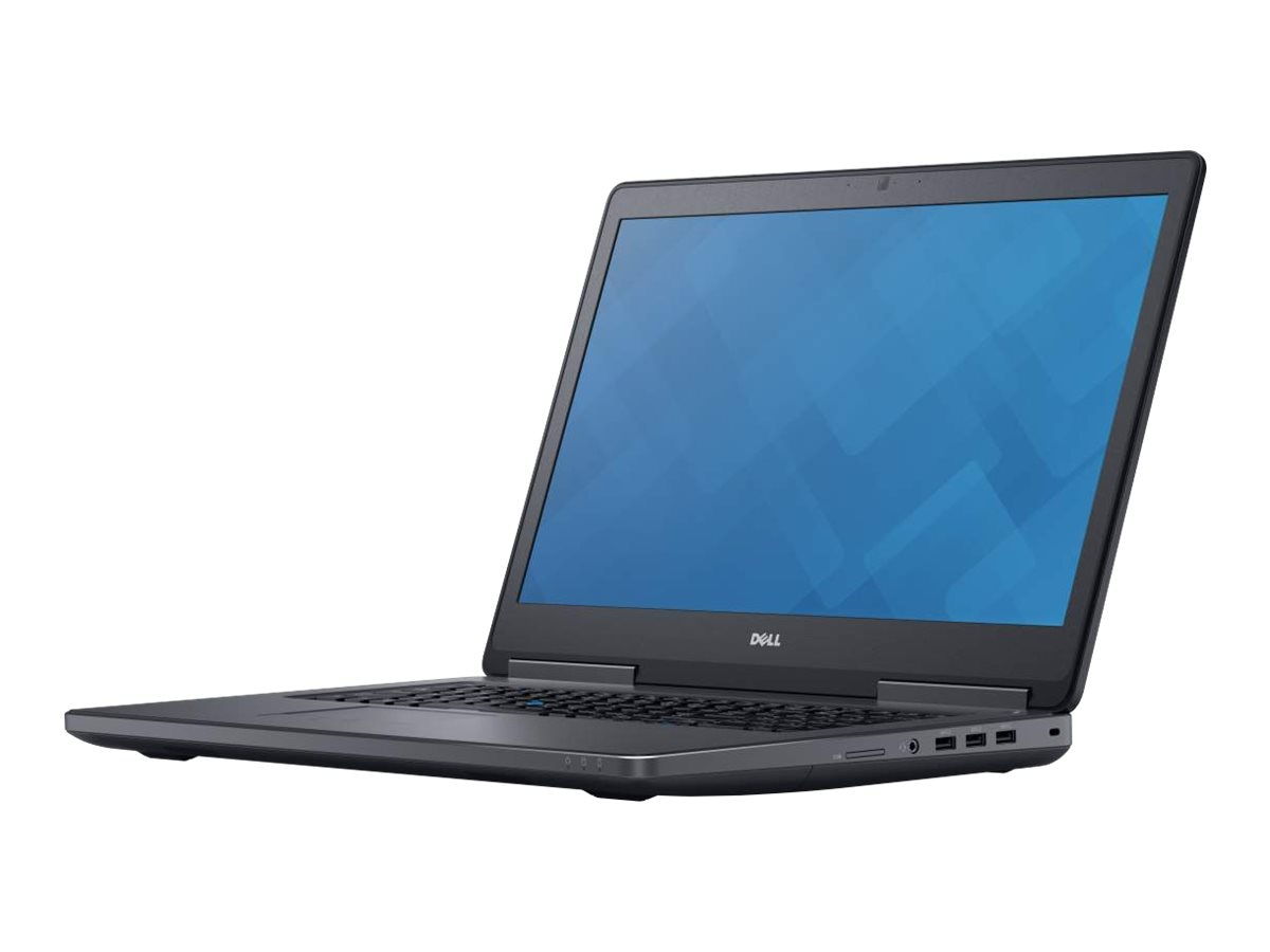 Dell Precision 7710 Core i7-6820HQ 2.7GHz 8GB 500GB W5170M ac BT WC 6C 17.3 FHD W7P64-W10P