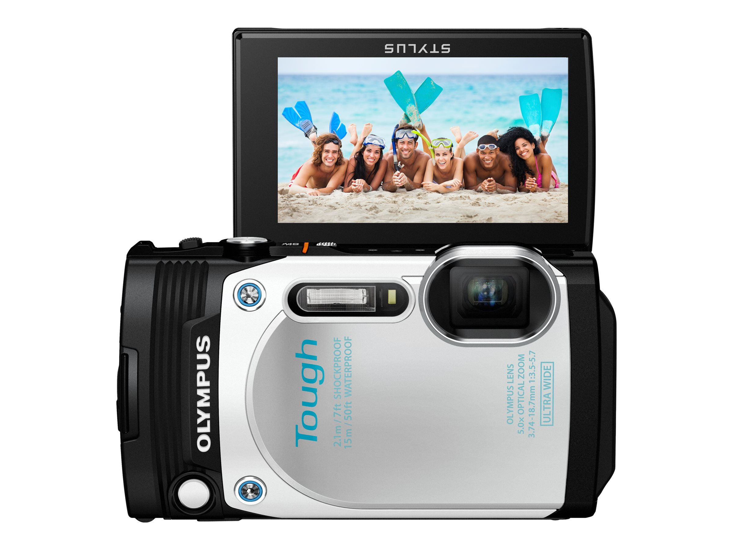 Olympus Stylus Tough TG-870 Digital Camera, White, V104200WU000, 31188739, Cameras - Digital - Point & Shoot