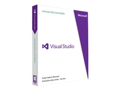 Microsoft Visual Studio Ultimate 2012 w MSDN, H9F-00318, 15467324, Software - Programming Tools