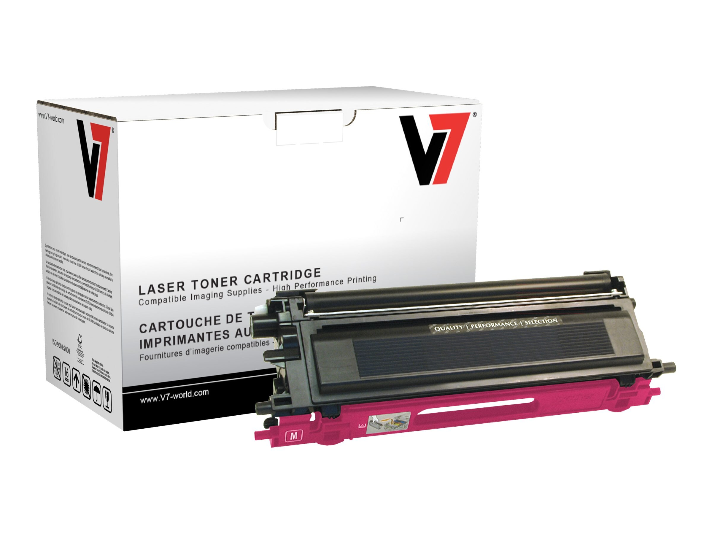 V7 TN115M Magenta High Yield Toner Cartridge for Brother HL-4040 (TAA Compliant), TBM2TN115MH