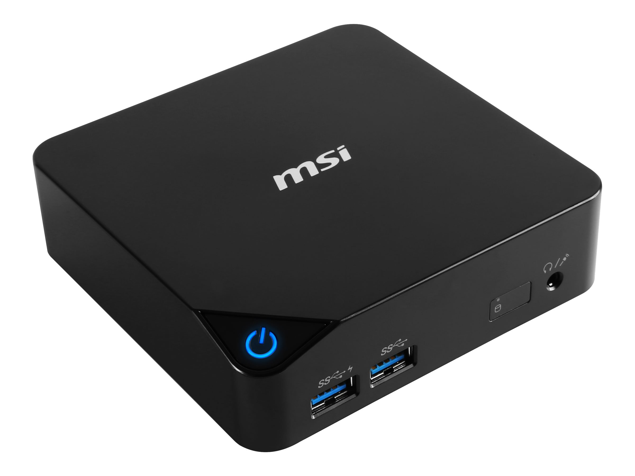 MSI Barebones, Cubi-001BUS Mini PC Core i3-5005U 2.0GHz Max.8GB DDR3L 1x2.5 Bay GbE ac BT NoOS, Black, CUBI-001BUS