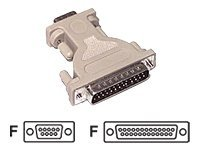 C2G DB9 Female to DB25 Female AT Adapter, 02448, 134857, Adapters & Port Converters