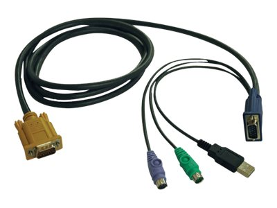 Tripp Lite KVM Switch Cable Kit, PS2 USB Combo Cable Kit for 6FTB020-U08 U16-19-K & B022-U16 KVM Switch, 6ft, P778-006, 10330572, Cables