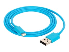 Griffin USB Type A to Lightning M M Cable, Blue, 3ft, GC39143-2, 32073722, Cables