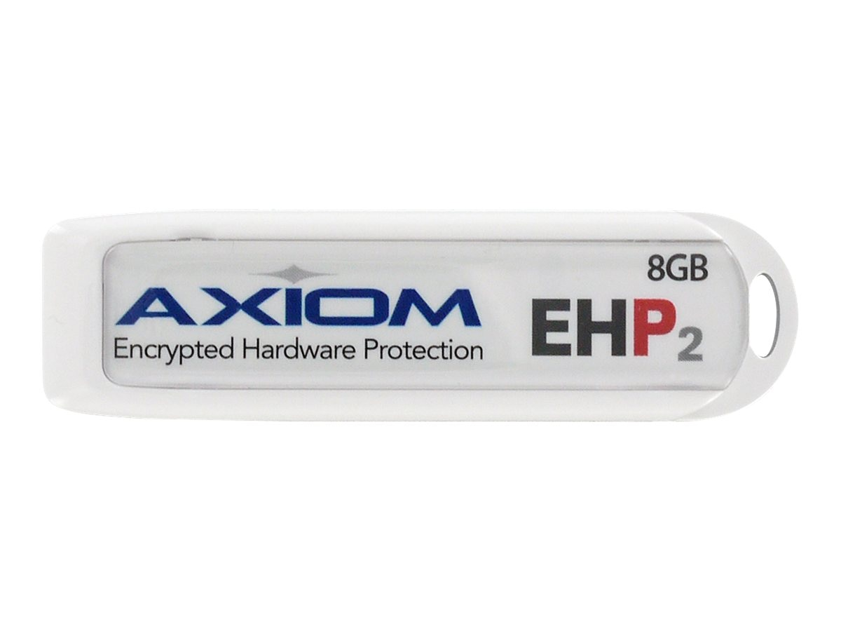 Axiom 16GB USB 2.0 Flash Drive with 256-bit AES Encryption Security, USBEHP216GB-AX