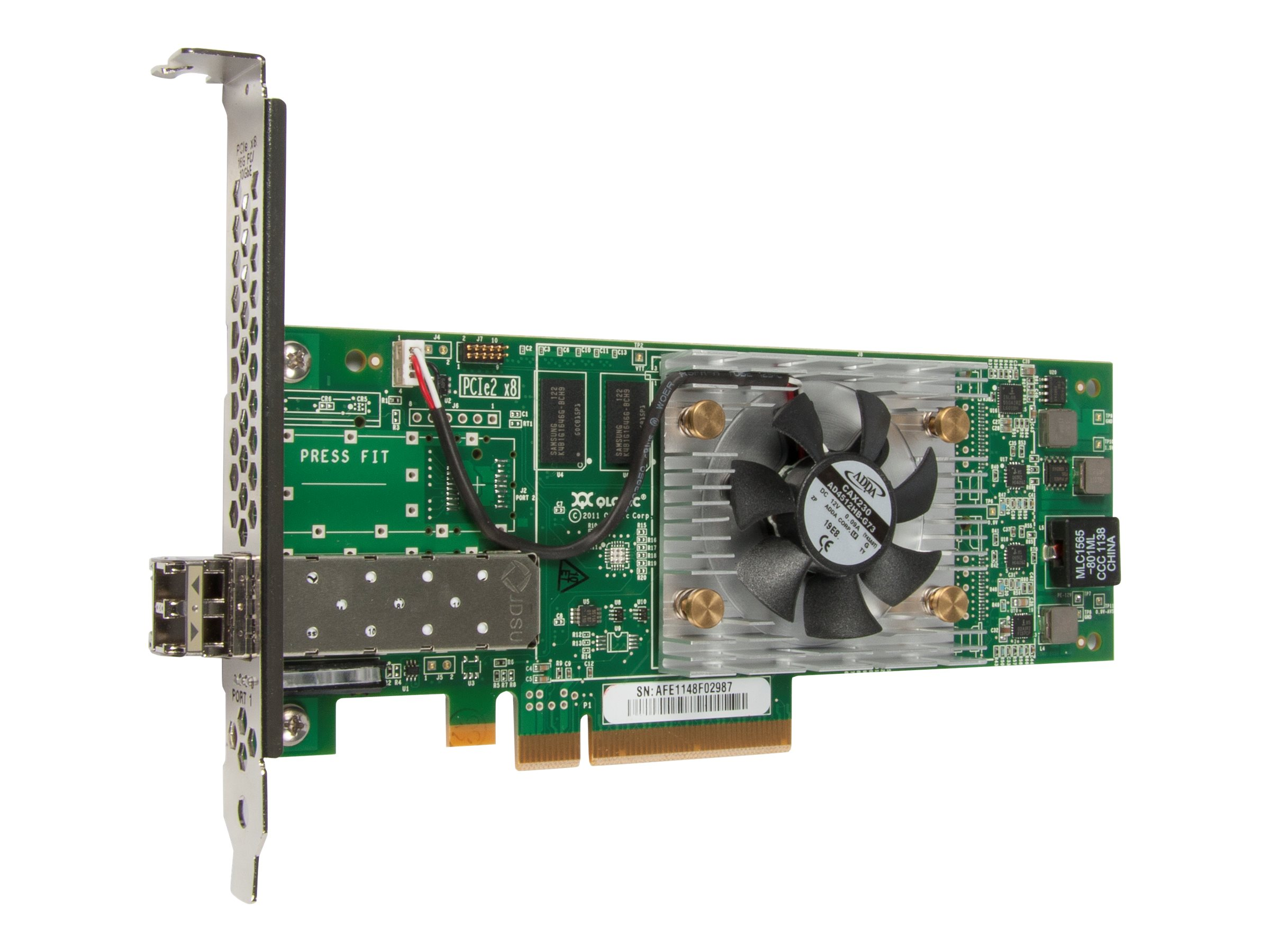 Qlogic 2600 Series Single-Port 16Gbps Fibre Channel-to-PCIe Adapters