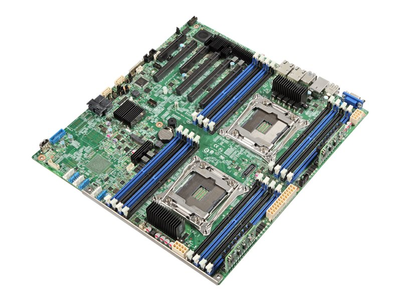 Intel Motherboard, Server Board S2600CWT SSI EEB (2x)E5-2600v3 Family Max.2TB DDR4 10xSATA 2x10GbE, 5 Pack, DBS2600CWT, 18114401, Motherboards
