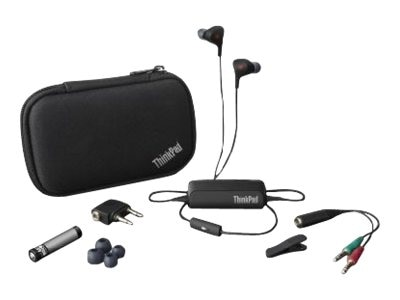Lenovo Noise-Cancelling Earbuds for Thinkpad, 0B47313, 15521271, Headphones