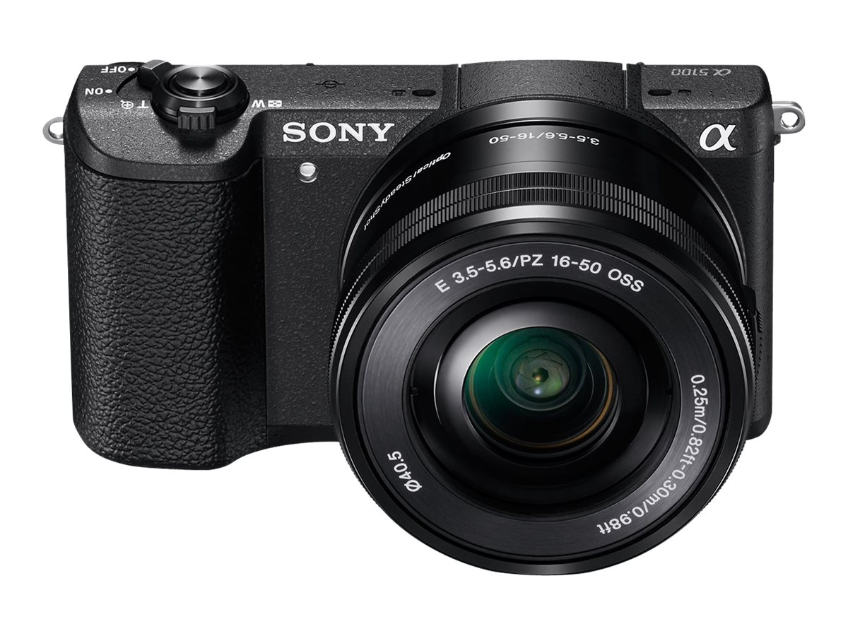 Sony Alpha a5100 Mirrorless Digital Camera with 16-50mm Lens, Black, ILCE5100L/B