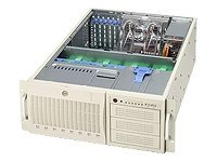 Supermicro Barebone SuperWorkstation 7044A-I 4U Tower, Xeon DP, PCIE16, PCIX, FDD, GBE, 8x IDE, 645W PS,Beige, SYS-7044A-I, 5475929, Barebones Systems