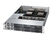 Supermicro SuperServer 8027R 2U RM Xeon E5-4600 Max. 1TB DDR3 6x 3.5 HS Bays 4x PCIe GNIC 2x1400W, SYS-8027R-7RFT+, 14627779, Servers